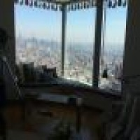 Custom Cushion For Bay Window Overlooking Manhattan Skyline View Of Manhattan Skyline Custom Template Cushion And Fabrication 2 Inches Thick