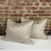 Custom Pillow With Leather Welt Beautiful Leather Pillow Welt