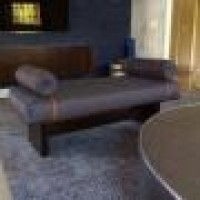 Custom Upholstered Bench With Wood Lacquer Base  Beautiful Custom Upholstery Custom Banquette Nyc Upholstery Custom Made