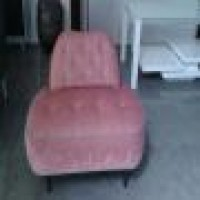 Custom Large Side Chair Re Upholstery New York City With Contrast Push Button Tufting Custom Re Upholstery